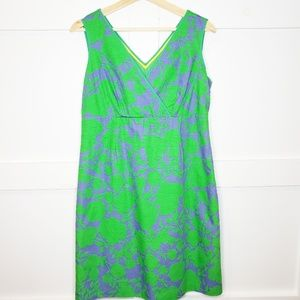 Boden Sleeveless Midi Partial Wrap Dress ALine 10p